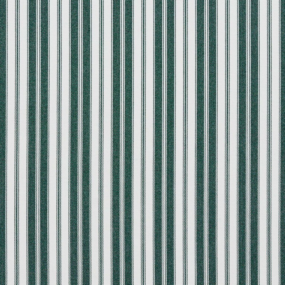 B463 Green Ticking Striped Outdoor Marine Acrylic