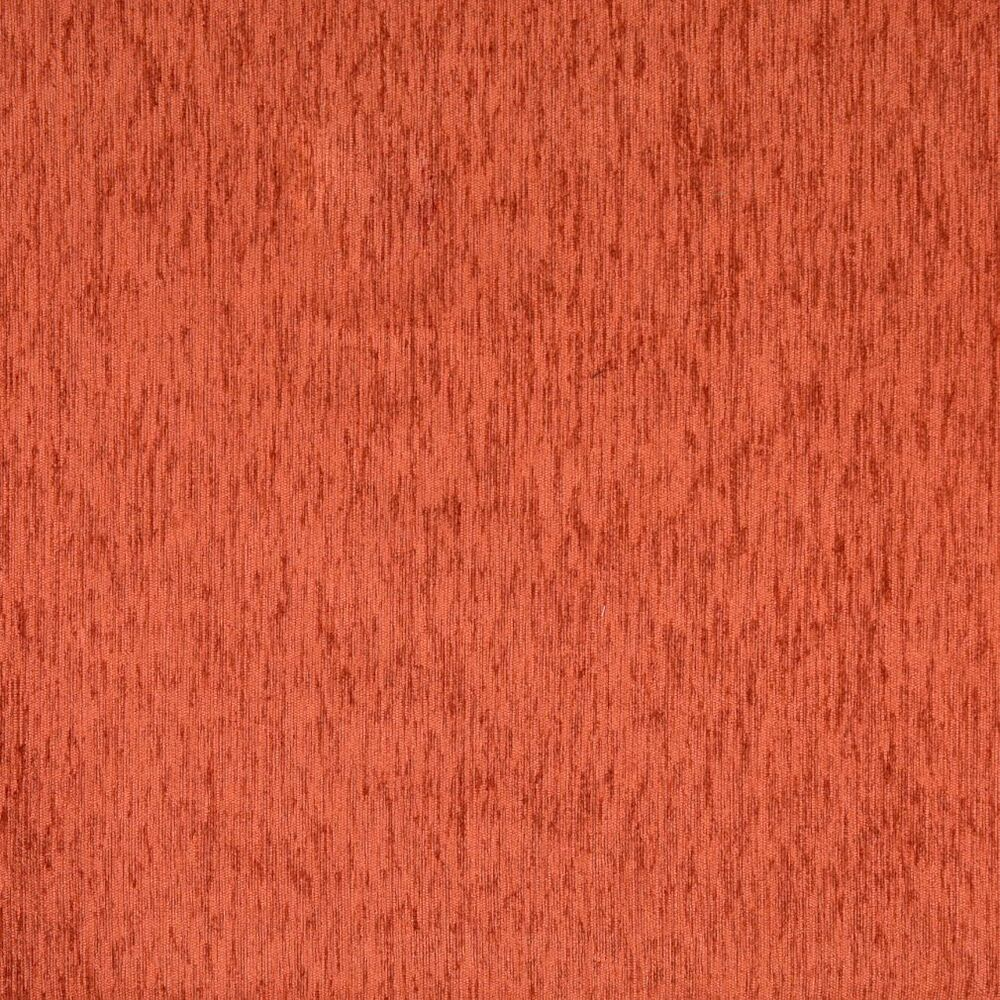 F881 orange textured solid chenille upholstery fabric by for Upholstery fabric by the yard