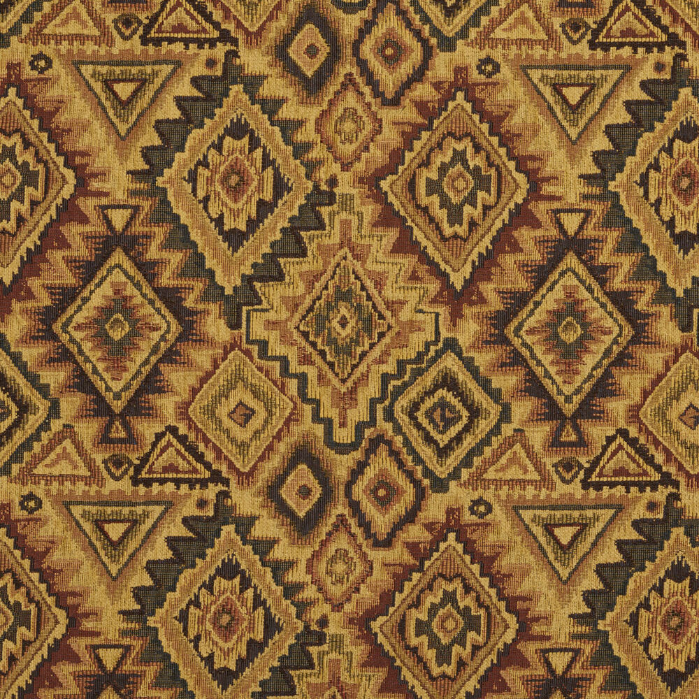 E101 southwestern navajo lodge style upholstery grade for Fabric by the yard