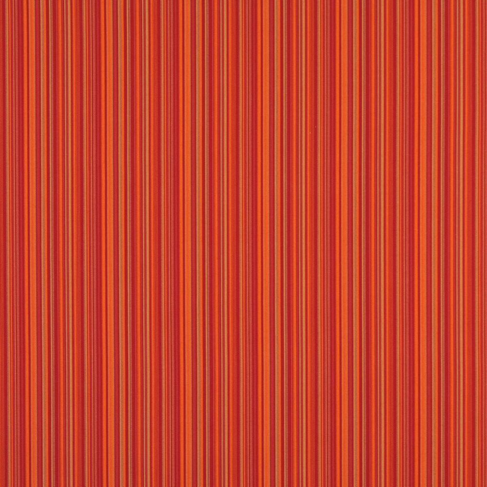 B466 orange striped outdoor marine scotchgard upholstery for Outdoor fabric by the yard