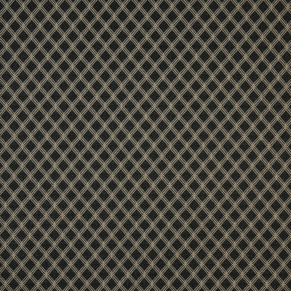 A412 Black And Beige Elegant Diamond Upholstery Fabric By