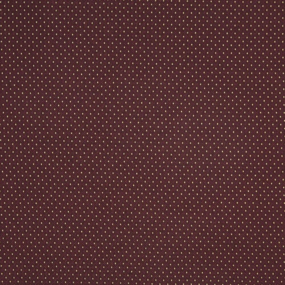A444 Burgundy And Gold Small Diamond And Dot Upholstery