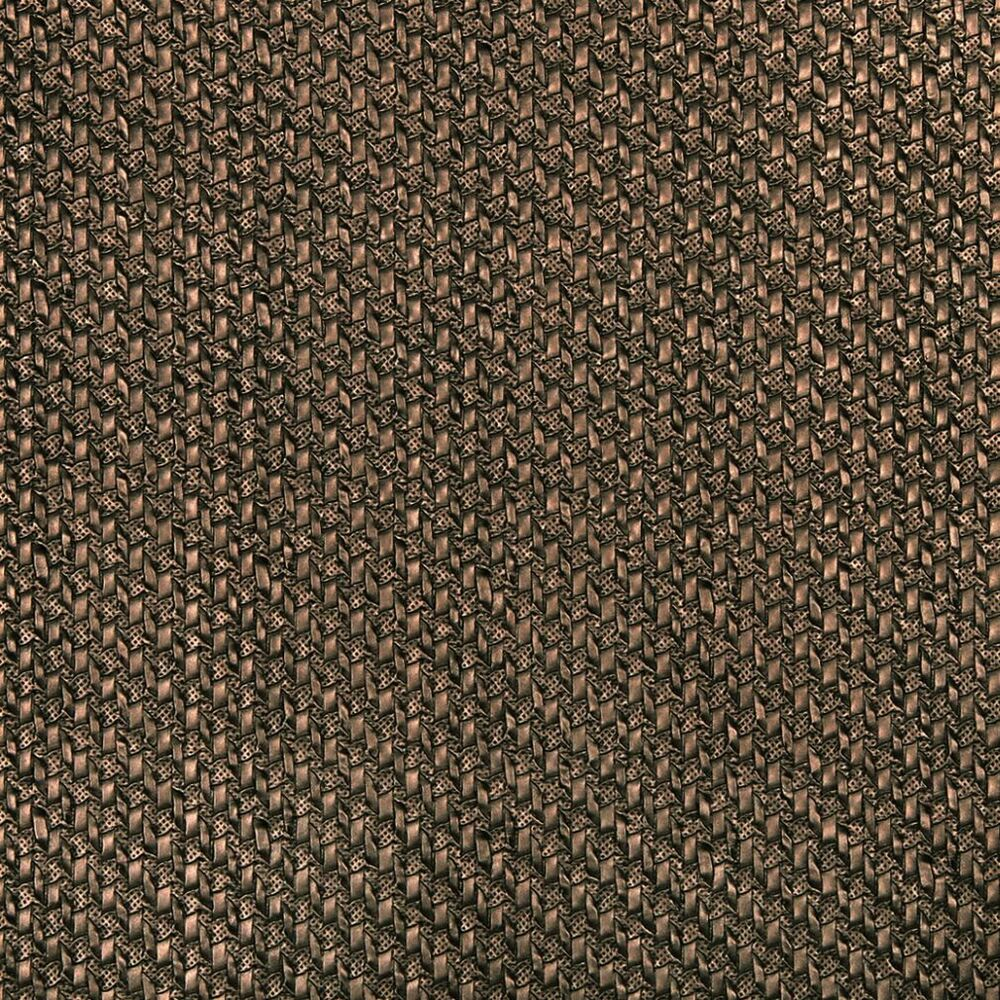 G787 brown metallic cross hatch upholstery faux leather by the yard