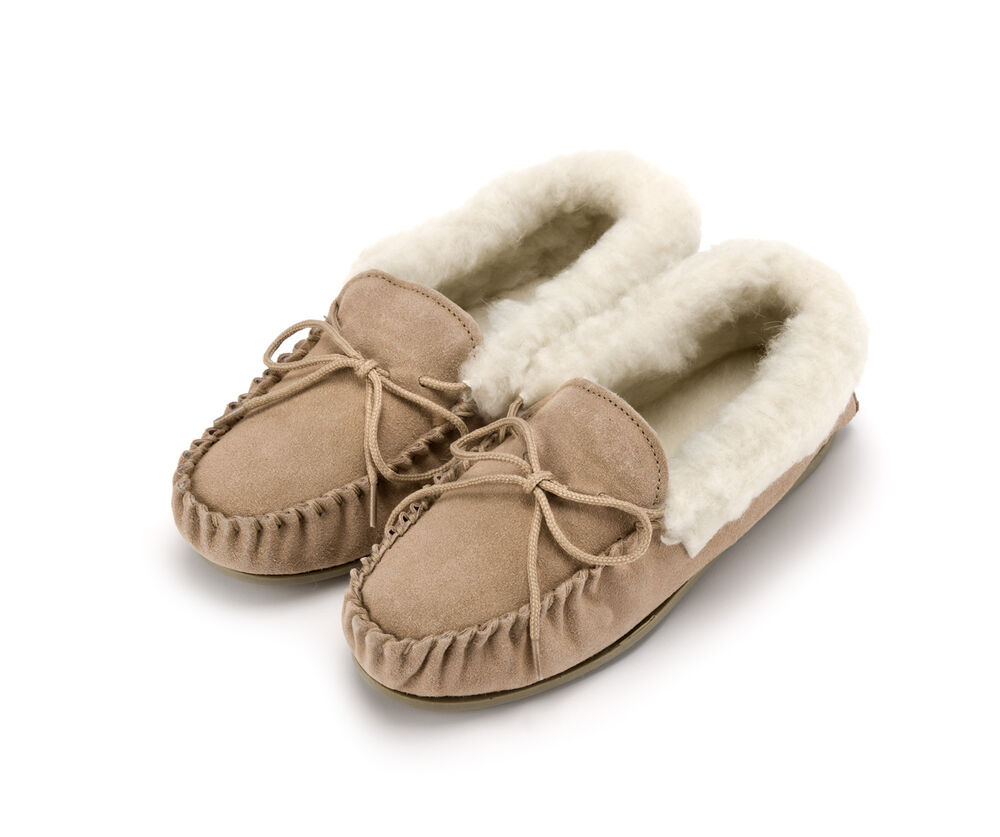 Ladies Tan Moccasin Shoes