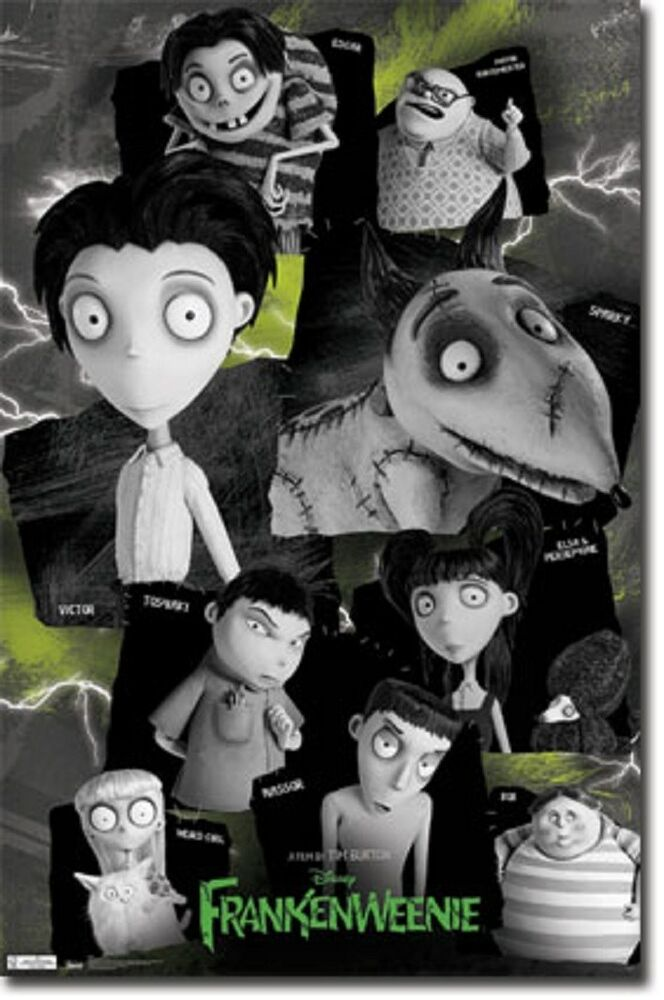 frankenweenie characters collage movie poster art print