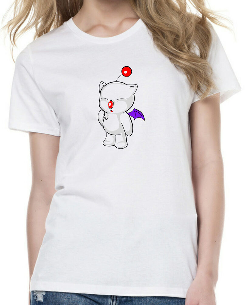 Mens and womens final fantasy moogle t shirt available in for Size 5x mens dress shirts