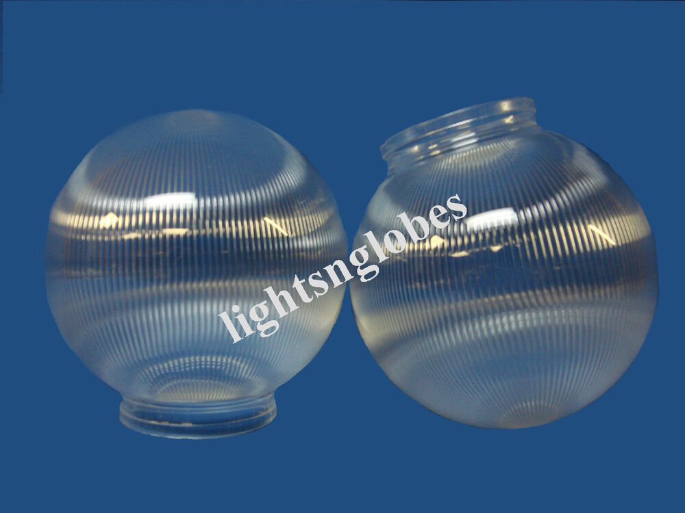 """6"""" Clear Prism Round Acrylic Plastic Sphere 3 1 4"""" Neck"""