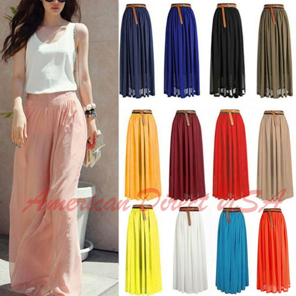 Simple  Skirt Pleated Skirt Retro Skirt Long Skirt Warm Skirt Ladies