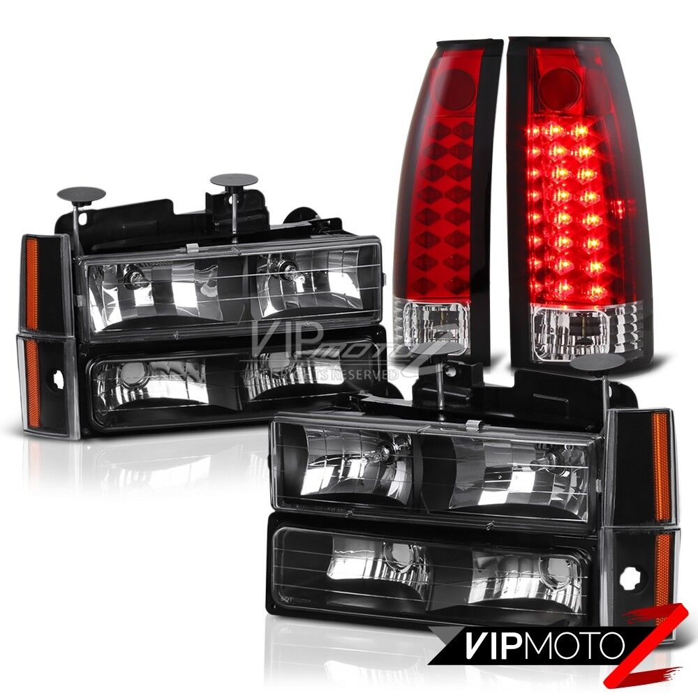 1992-1993 Chevy Suburban CK 1500 2500 Red LED Brake Lamps