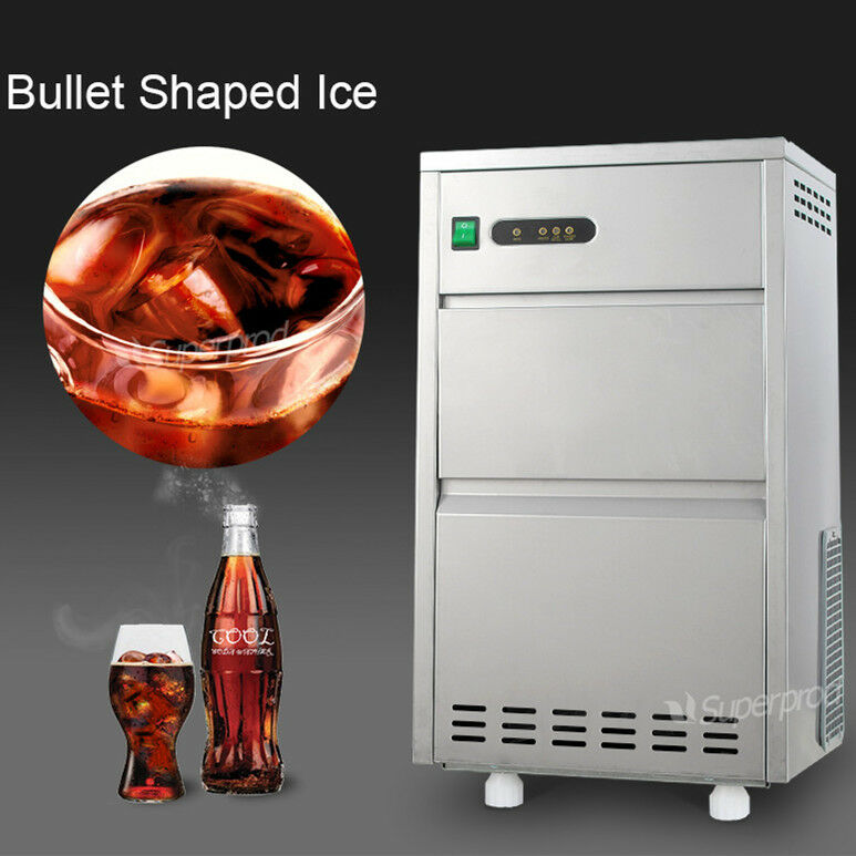 Portable 60 Lbs Day Countertop Commercial Bullet Ice Maker