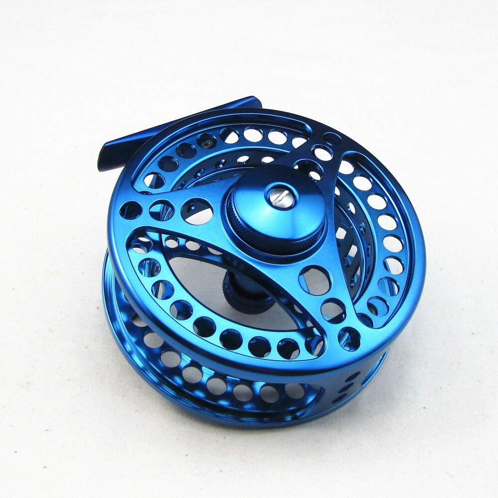 7 8 cnc machined aluminum fly fishing reel 95mm blue color for Fly fishing reels ebay