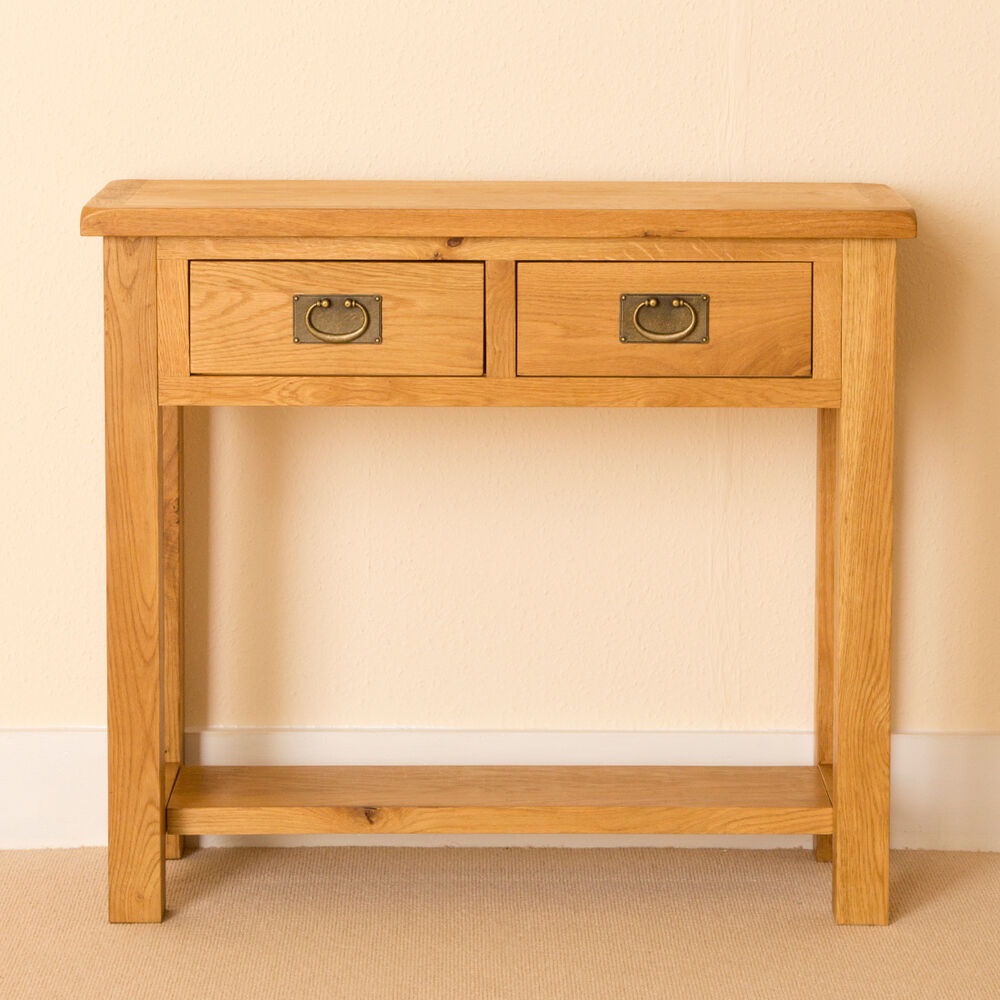Oak Hall Table ~ Lanner oak console table hall side telephone