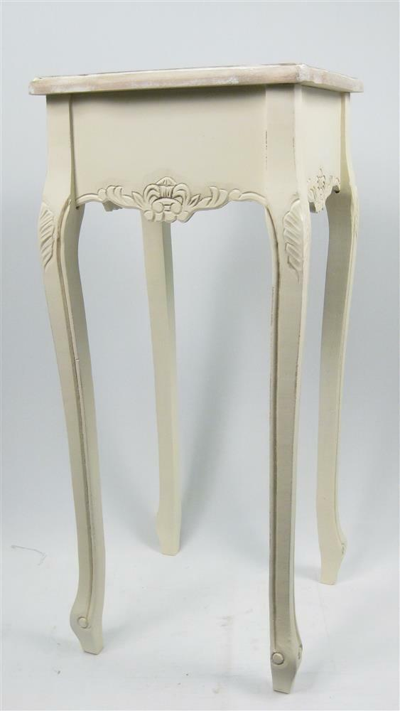 Cream Bedside Tables: SHABBY CHIC SIDE/BEDSIDE TABLE 80CM PLANT/LAMP STAND
