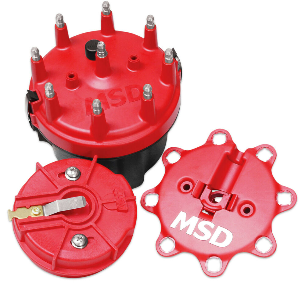 Msd Ignition 8420 Distributor Cap And Rotor V8 Chev Cap A