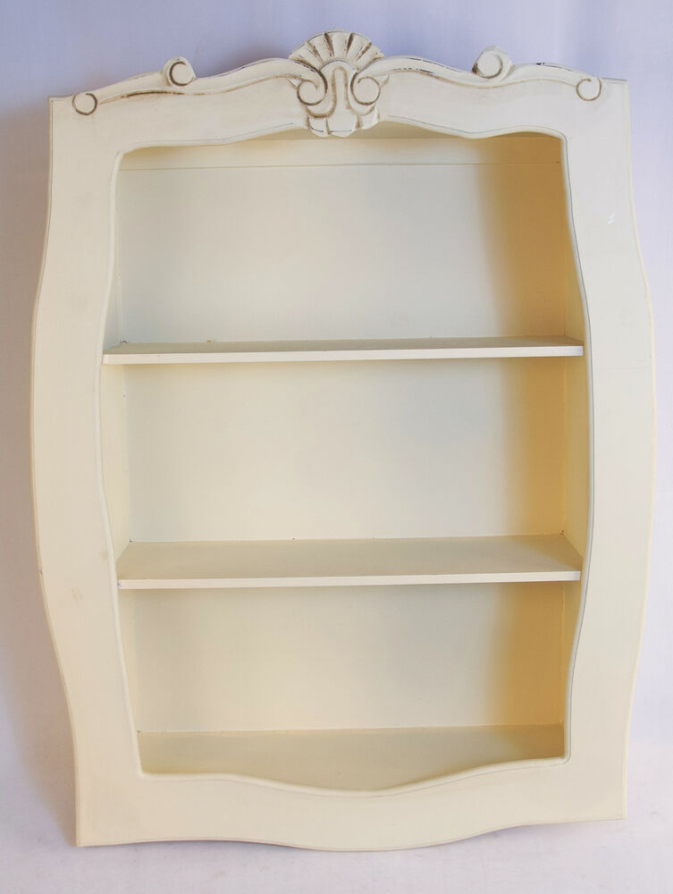 shabby chic wall shelf 80cm display unit french style. Black Bedroom Furniture Sets. Home Design Ideas