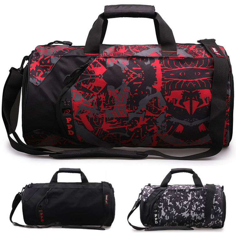 Simple 17u0026quot; Men/Women Travel Duffle Duffel Gym Sports Bag Multi-Usage Blue/Black | EBay