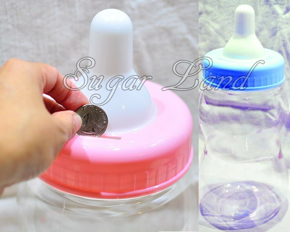 13 big large jumbo fillable bottle baby shower favors decor blue pink