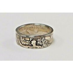 Kyпить Coin ring HAND MADE from Silver Walking Liberty Half Dollar in size 6-15  на еВаy.соm