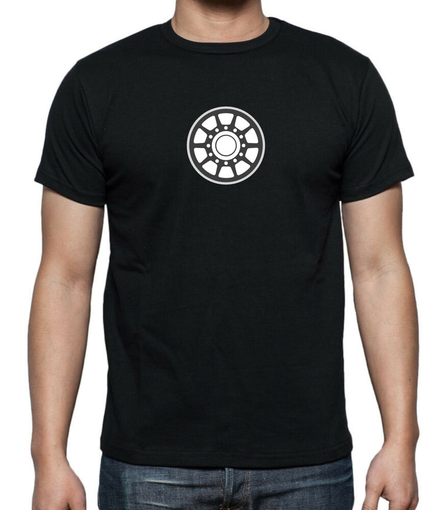 Ironman inspired glow in the dark arc reactor t shirt in for Size 5x mens dress shirts