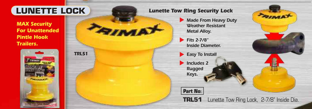 Trl51 Trimax Lunette Tow Ring Security Lock For Pintle
