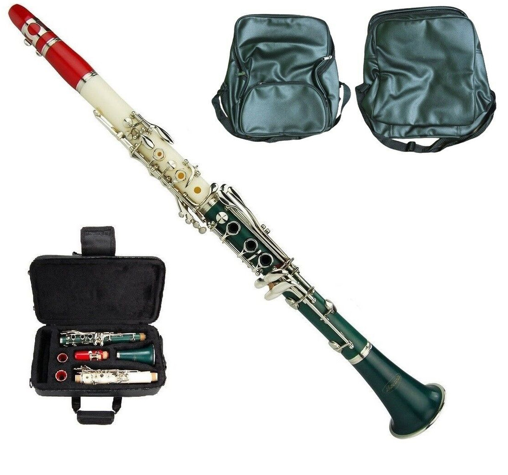 new merano bb tri color clarinet zippered hard case free metro tuner 11 reeds ebay. Black Bedroom Furniture Sets. Home Design Ideas