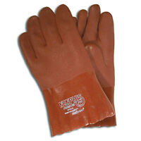 """12 new MEMPHIS PVC Coated non-slip 10"""" Lined Industrial Safety Work Gloves 6451S"""