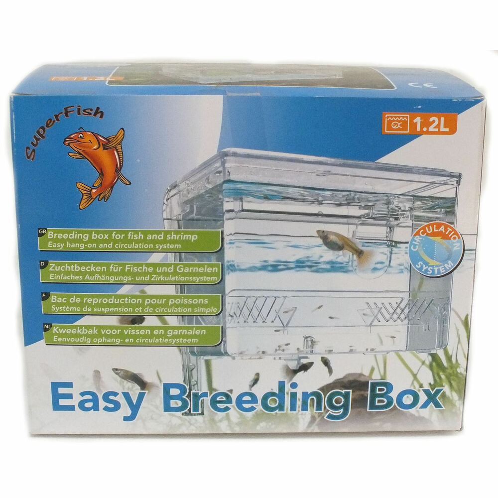Superfish 1 2l aquarium fish tank easy breeding box fry for Fish breeding tank