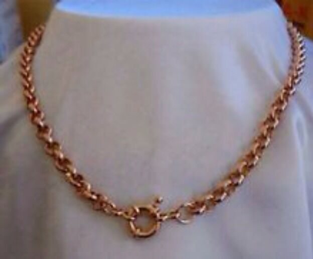 9ct 9k Rose Quot Gold Filled Quot Rolled Gold Belcher Chain