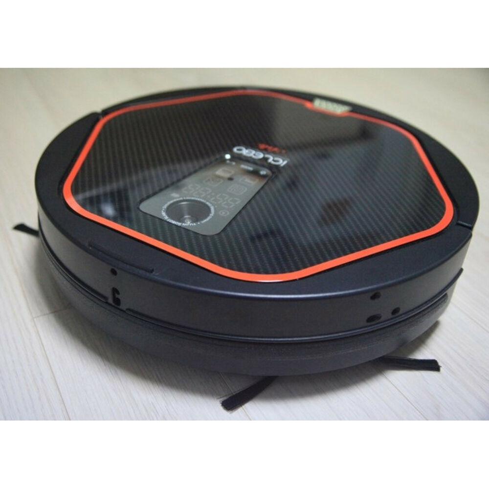 iclebo arte robot vacuum cleaner ycr m05 10 hepa modern black catch mop filter ebay. Black Bedroom Furniture Sets. Home Design Ideas