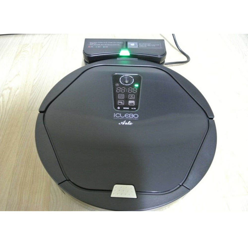 yujin iclebo arte robot vacuum cleaner ycr m05 30 hepa black catch mop ebay. Black Bedroom Furniture Sets. Home Design Ideas