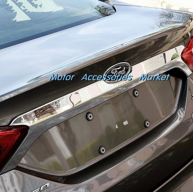 2013 Ford Fusion Exterior: Chrome Rear Trunk Lid Cover Tail Door Molding Trim For