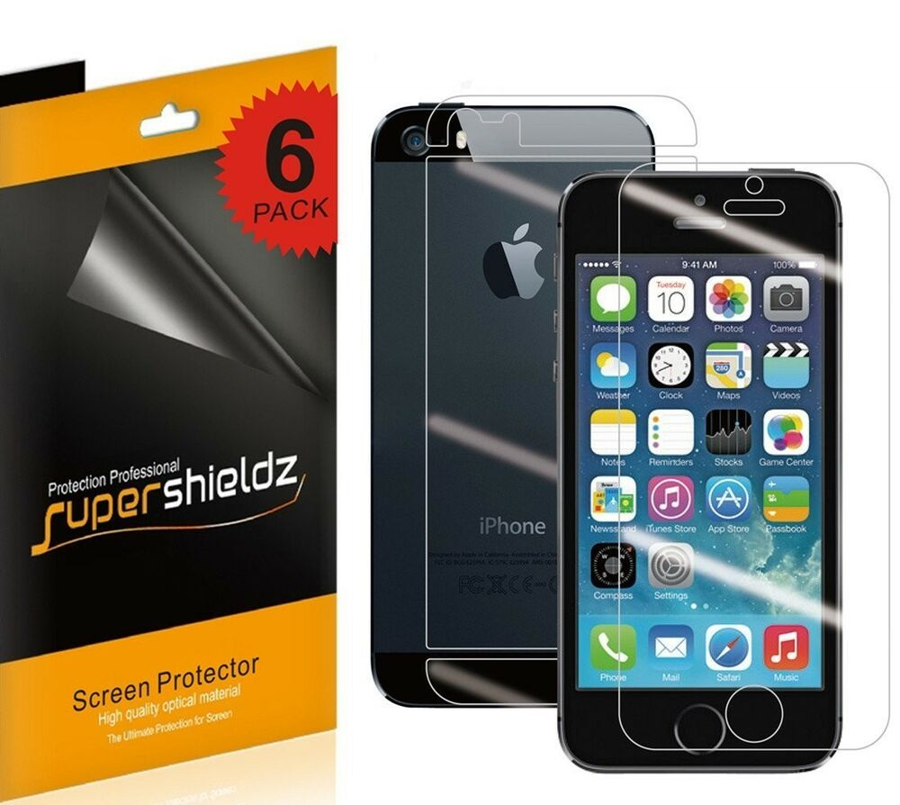 screen protector iphone 5s 6 front 6 back 12 ultra clear hd screen protector 9221