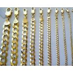 "1.5MM- 11MM 14K SOLID YELLOW GOLD CUBAN LINK WOMEN/ MEN'S NECKLACE CHAIN 16""-30"""