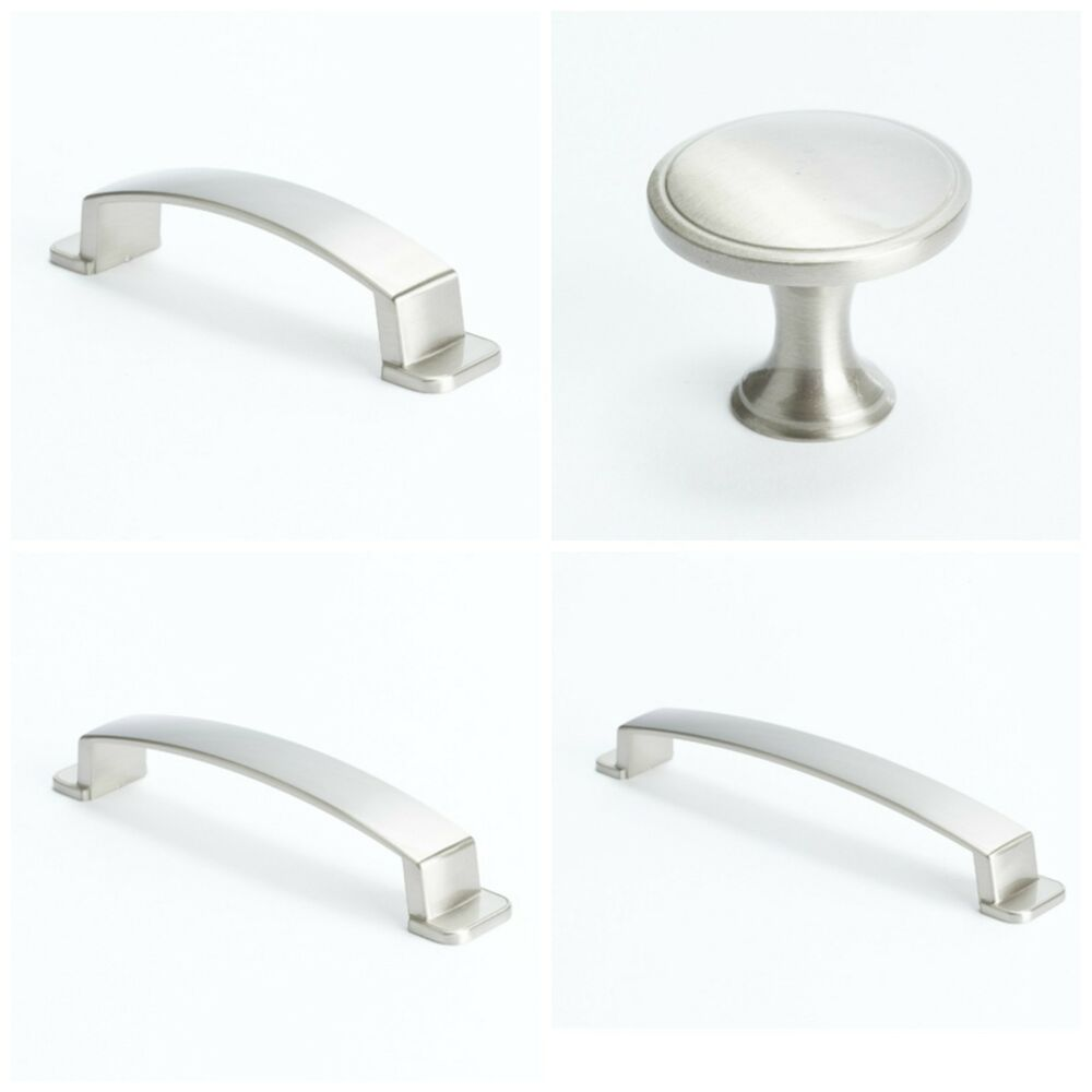 Berenson Oasis Brushed Nickel Kitchen Cabinet Hardware Knobs Pulls Be92 Pn Ebay