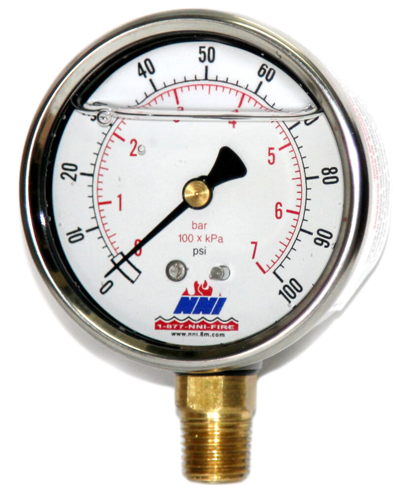 Fork Lift Gauge : Psi bar industrial stainless pressure gauge