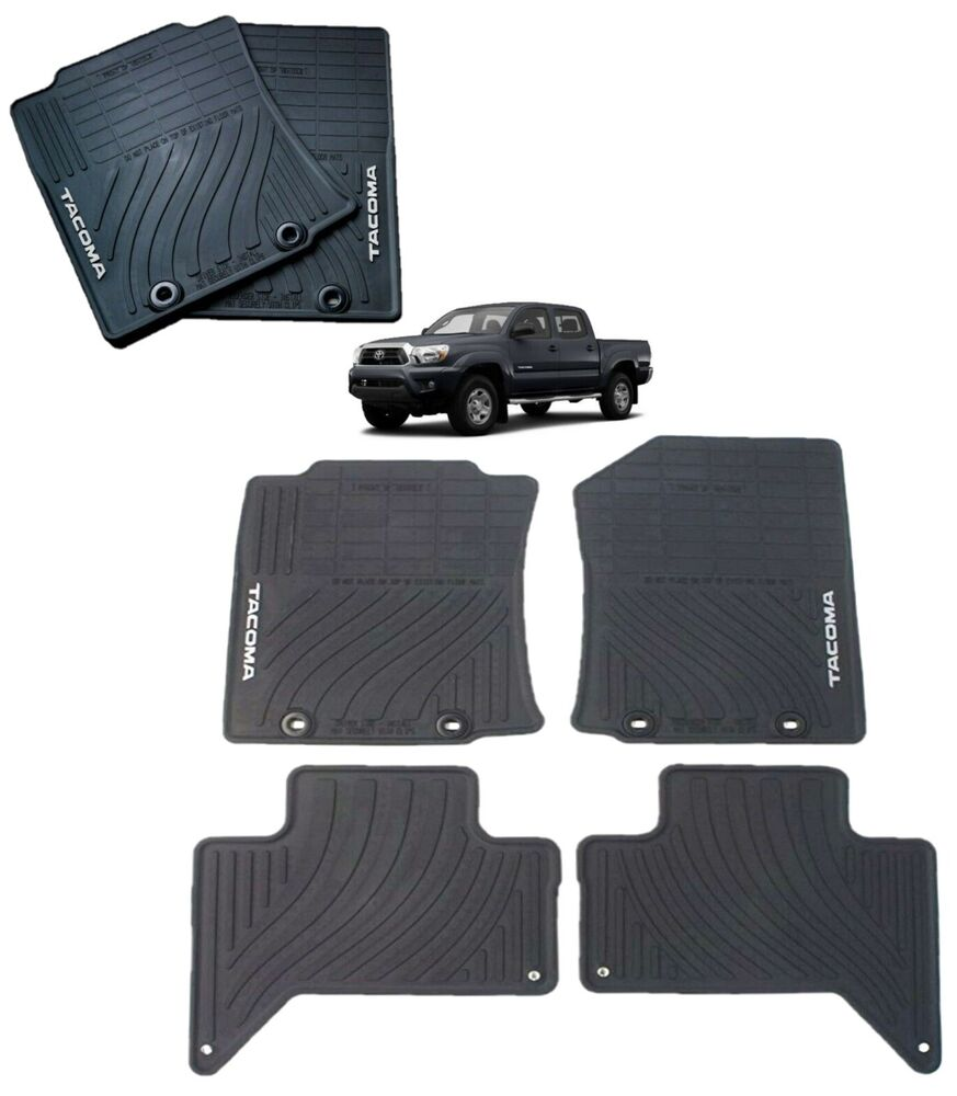 and front floor mat extended black catalog for set sale used oem carpets tacoma cab trd nice mats rear toyota