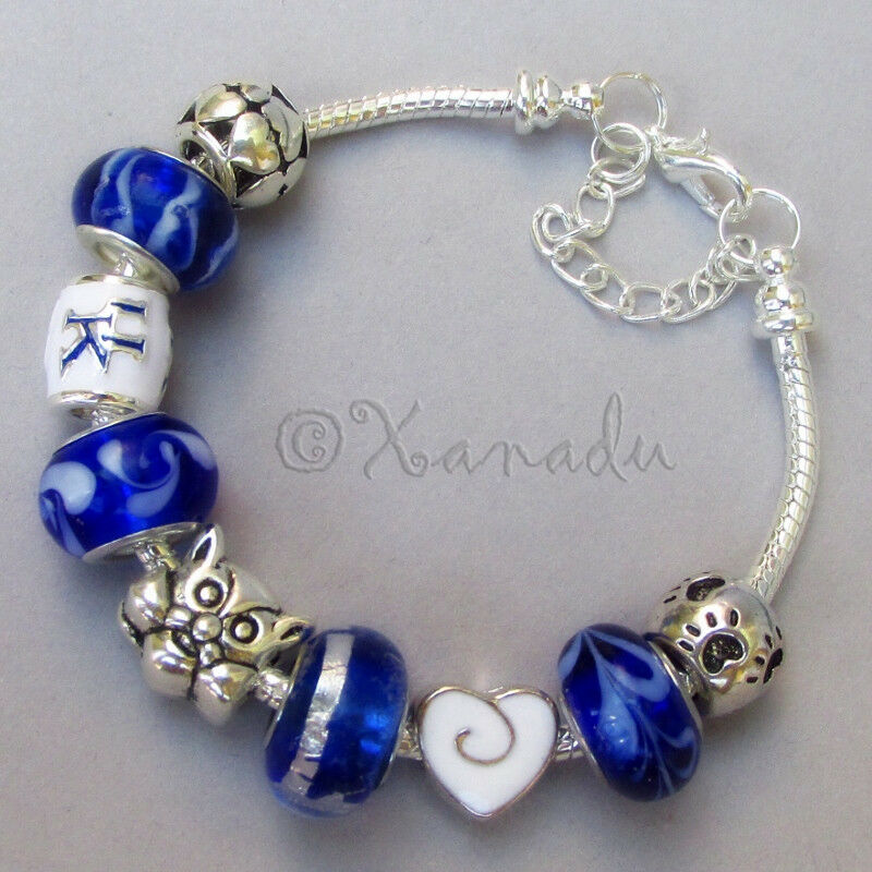 Kentucky Wildcats European Charm Bracelet With University