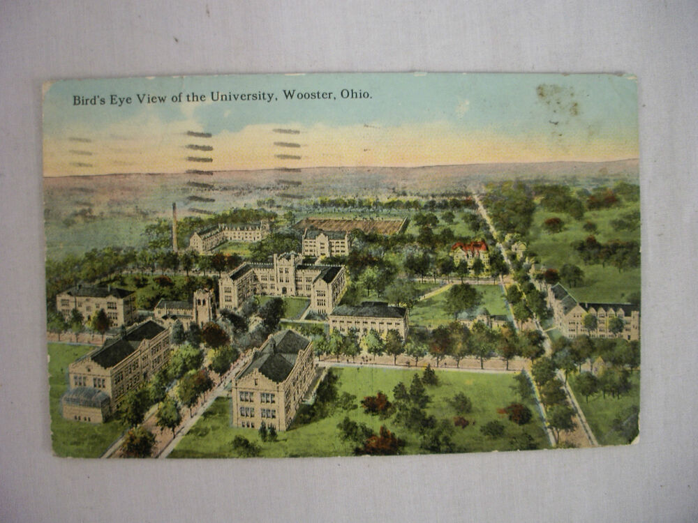 Vintage Postcard Bird S Eye View Of The University In