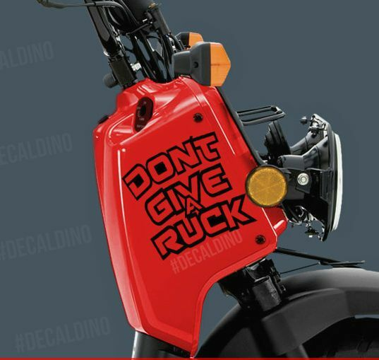 Dont Give A Ruck Decal Fits Honda Ruckus Vinyl Graphic