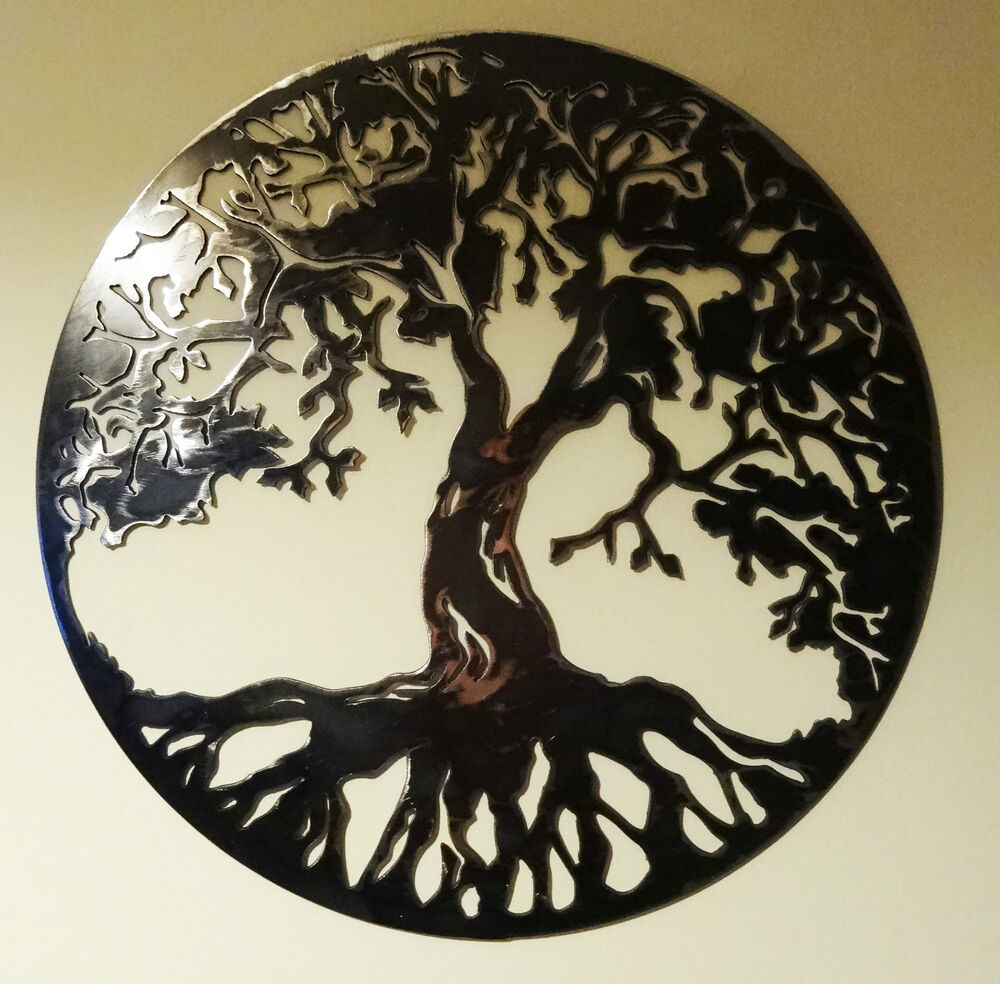 Solid Steel Metal Hand Finished Quot Tree Of Life Quot Wall Art