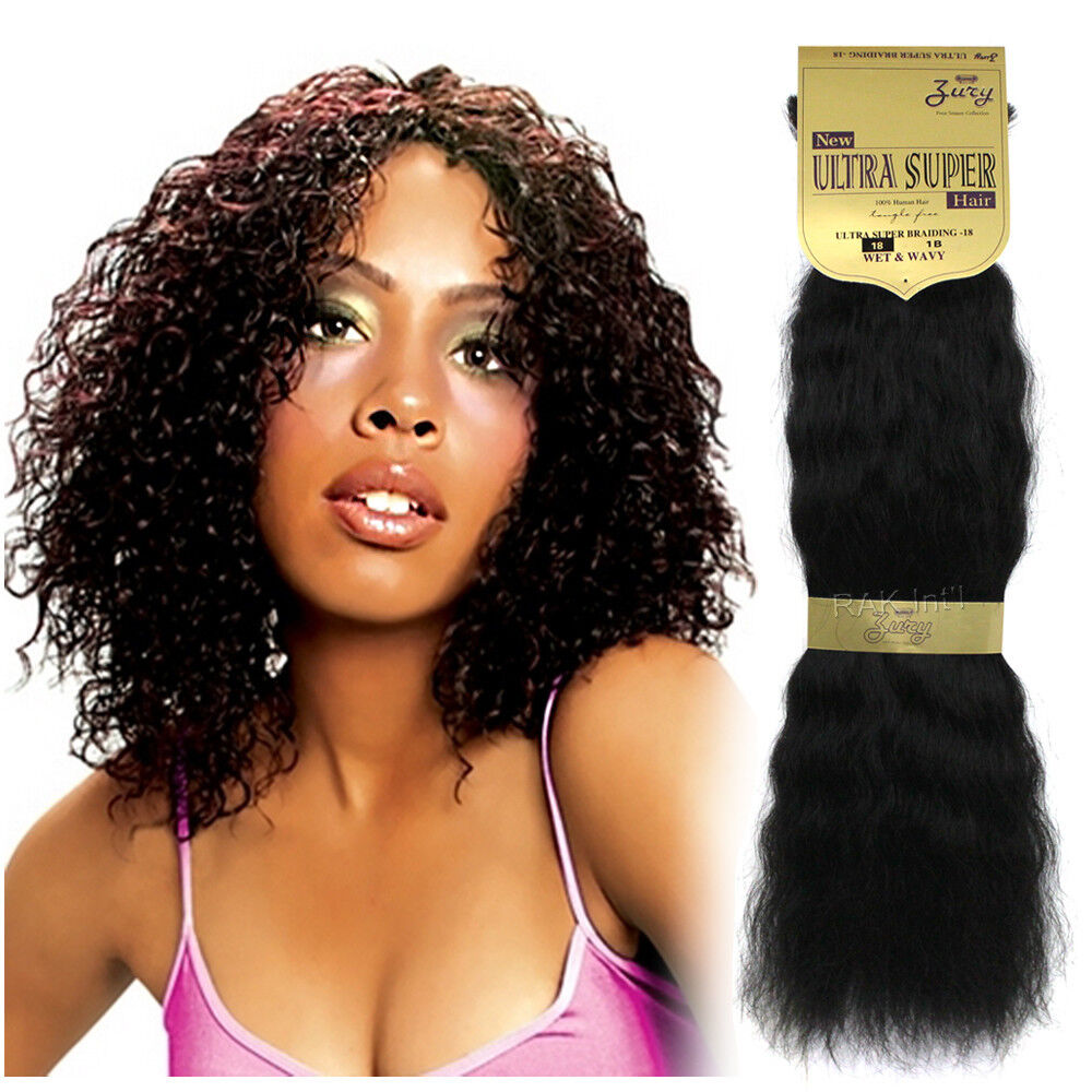 Crochet Braids With Zury Hair : Zury New Ultra Super Braiding Wet & Wavy 100% Human Hair 18 20...