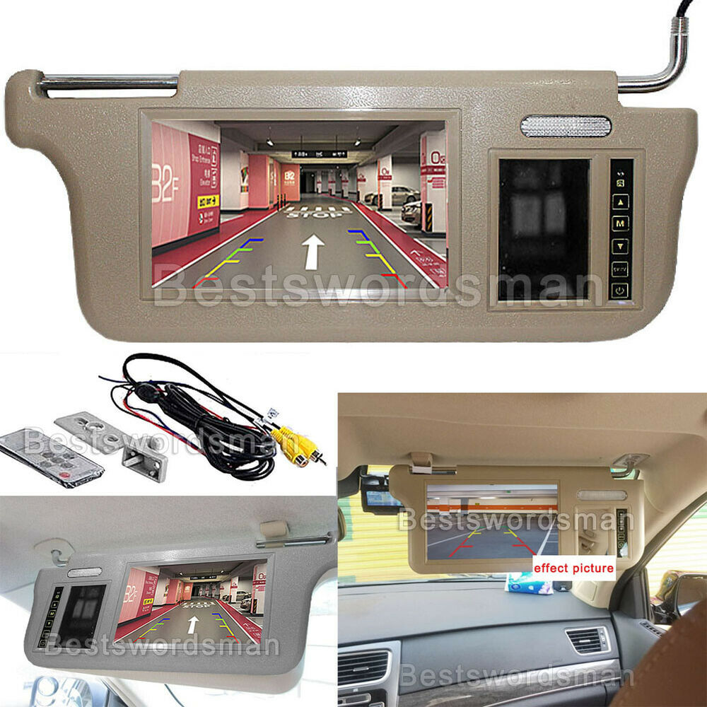 7 car sunvisor rear view mirror screen lcd monitor dvd. Black Bedroom Furniture Sets. Home Design Ideas
