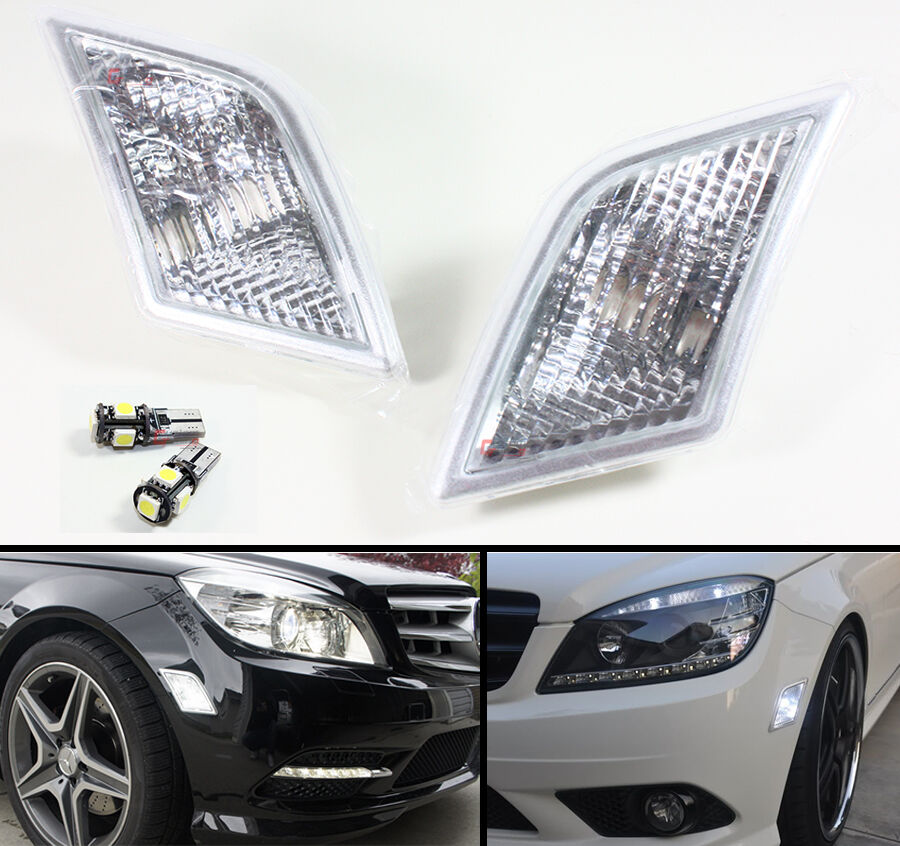 08 11 mercedes benz w204 euro clear side marker lamps for Mercedes benz lighting