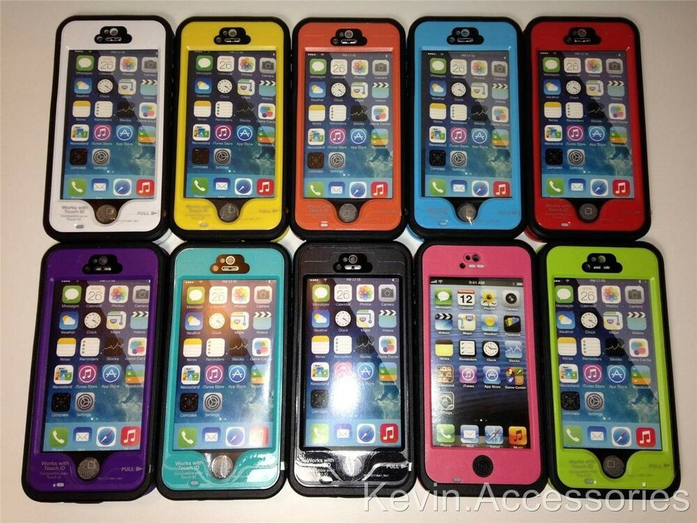 iphone 5c waterproof case newest fingerprint waterproof for apple iphone 5 5s 14716