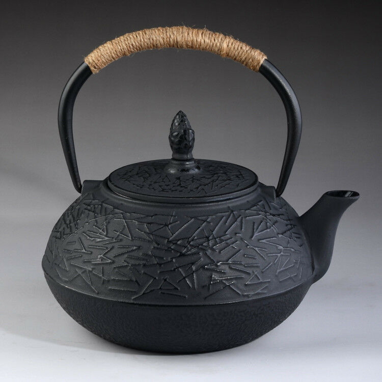 Japanese Style Cast Iron Kettle Tetsubin Teapot 0 9l With Strainer Ebay