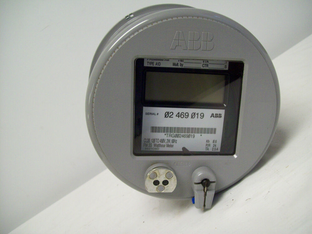 60 Hertz Frequency Meter : Abb fm s watt hour meter cl volts w hz ebay
