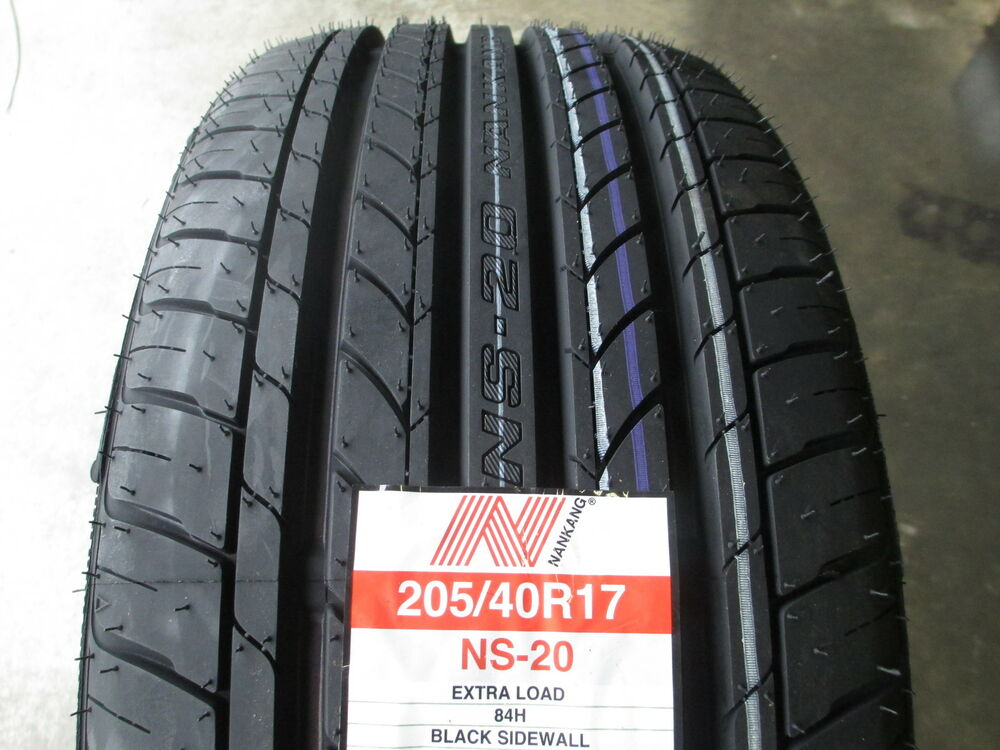 4 new 205 40r17 inch nankang ns 25 all season uhp tires 40. Black Bedroom Furniture Sets. Home Design Ideas