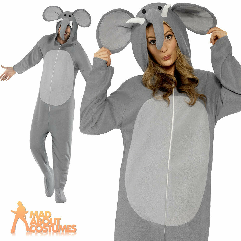 Animals Costumes Adults Adult Elephant Onesie Costume