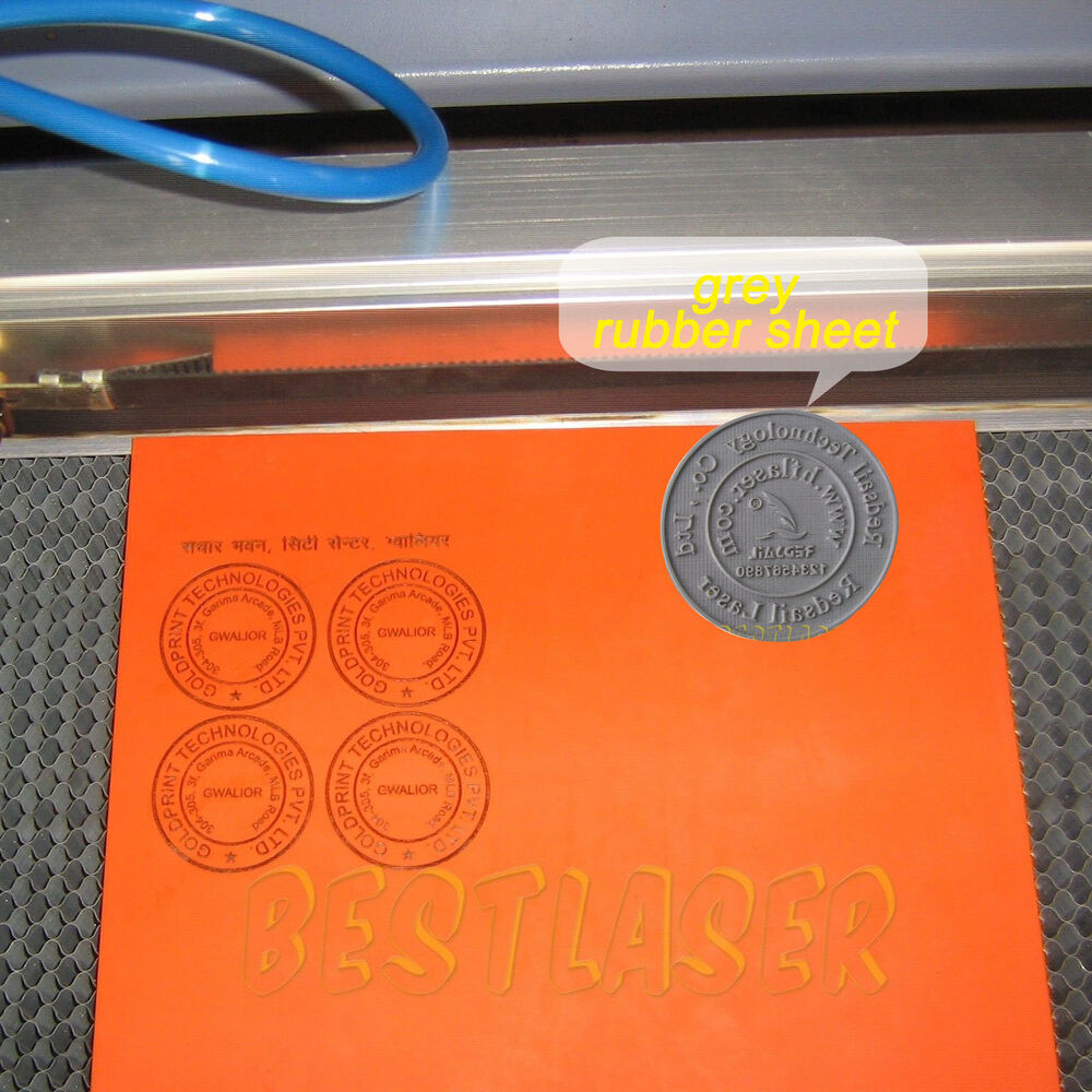 Stamp Rubber Sheet Grey For Laser Engraving Cutting