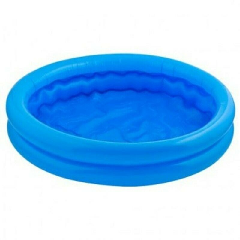 Baby kids paddling pool 2 ring small 56cm inflatable home for Small paddling pool
